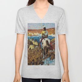 WINTER CAMP OF THE SIOUX - William Herbert Dunton Unisex V-Neck