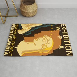 Federal Art Pennsylvania retro ad Rug
