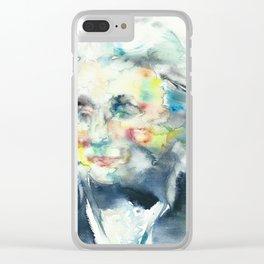 HORATIO NELSON - watercolor portrait Clear iPhone Case