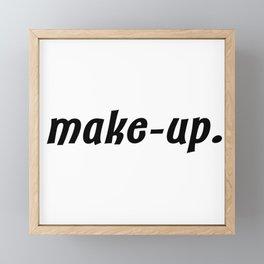 make-up. Framed Mini Art Print