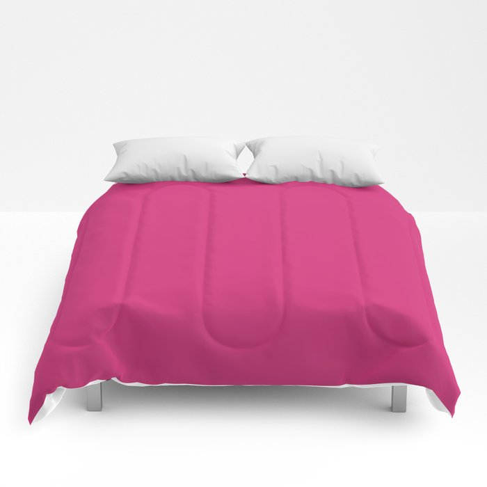 Fuchsia Pink - Solid Color Collection Comforters