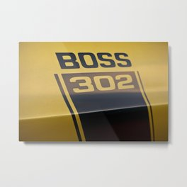 Mustang Boss 302 Detail Metal Print