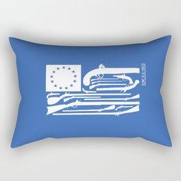 Stars and Flintlocks - Blue & White Rectangular Pillow