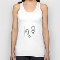 toilet Tank Tops featuring toilet by Lineamentum
