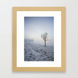 Winter in the Chilterns Framed Art Print