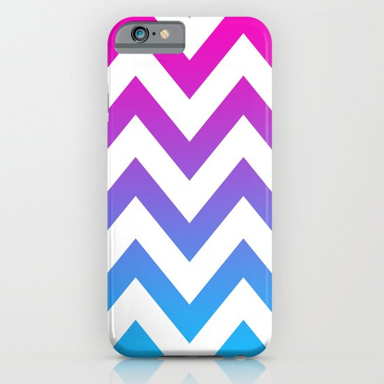 PINK & TEAL CHEVRON FADE iPhone & iPod Case