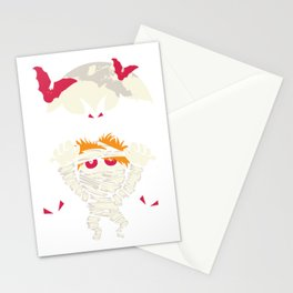 Funny Halloween Mummy Monster Moon Bats Stationery Cards