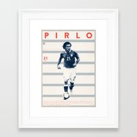 pirlo Framed Art Prints featuring Pirlo by Dylan Giala