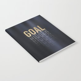 Goal Digger - Gold on Black Notebook
