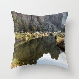 Smith Rock Morning Glow Throw Pillow