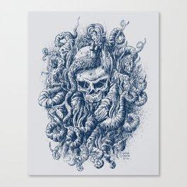 Mermaid Skull 2 Canvas Print