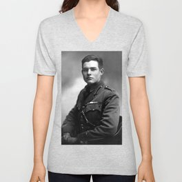 Ernest Hemingway in Uniform, 1918 Unisex V-Neck