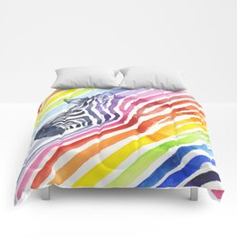 Animal Zebra Rainbow Comforters