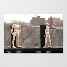 Harlem Androids in Love Canvas Print