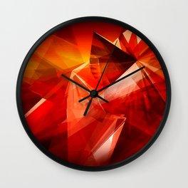 Abstrakt - Feuer der Leidenschaft Wall Clock