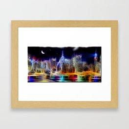 Starry Night New York City Framed Art Print