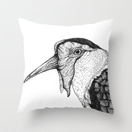 Spur Winged Plover Throw Pillow