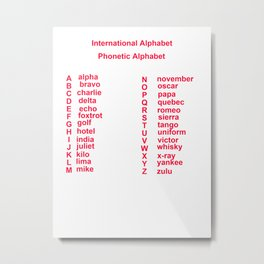 International Alphabet Metal Print