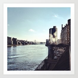 At the East River Art Print