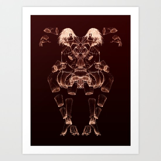 The Beast Inside 2 Art Print
