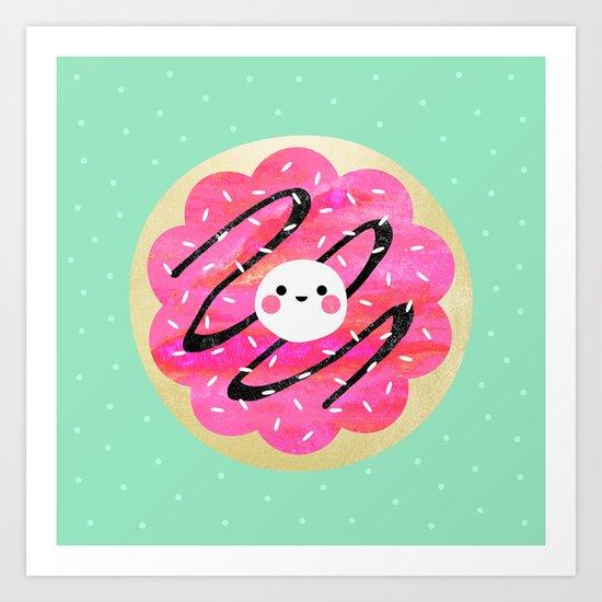 Little Cookie / Turquoise Art Print