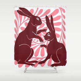 "William De Morgan ""Boxing Hares"" 1. Shower Curtain"