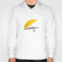 himym Hoodies featuring HIMYM - The Yellow Umbrella by George Hatzis