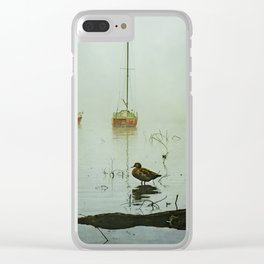 Yachts on a Foggy Morning Clear iPhone Case