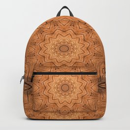 Wooden star ring kaleidoscope Backpack