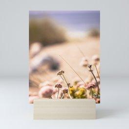Floral dunes view Mini Art Print