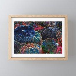 Indigo Glow Night Pumpkins Framed Mini Art Print
