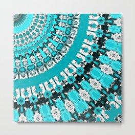 Aquamarine Rays Metal Print