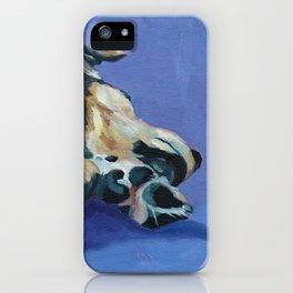A Dog's Paws Portrait iPhone Case