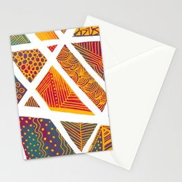 Geometric doodle pattern - multicolor Stationery Cards