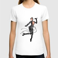 catwoman T-shirts featuring Catwoman by Ayse Deniz