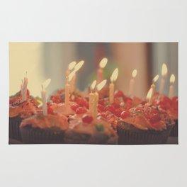 Happy Birthday Cupcakes Rug