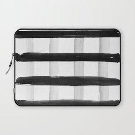 Black and White Brush Strokes Laptop Sleeve