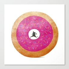 The Fast (Food) Runner! Canvas Print