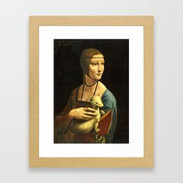 Leonardo Da Vinci - The lady with an ermine Framed Art Print