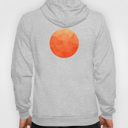 Abstract Geometric Gradient Pattern between Pure Red and very light Orange Hoody