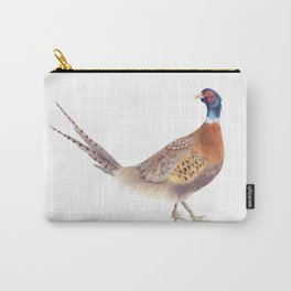 Pheasant Watercolor Painting Carry-All Pouch