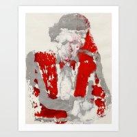 anchorman Art Prints featuring Anchorman by Gabriel Cohen