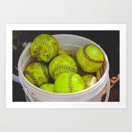 A Bucket Full of Softballs Art Print