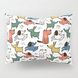 Dogs Animals Prints patterns Pillow Sham