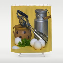 Milk Can Vignette Shower Curtain