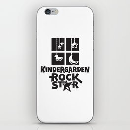 Kindergarten Rock Star Cute Childrens Illustration iPhone Skin