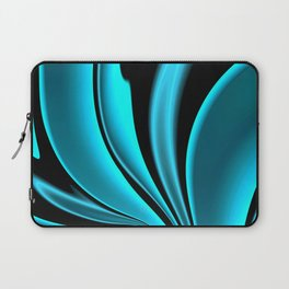 Abstract Fractal Colorways 02 Pacific Blue Laptop Sleeve