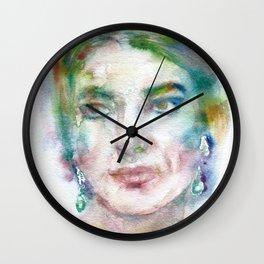 MARIA CALLAS - watercolor portrait Wall Clock