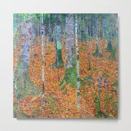 Gustav Klimt Birch Forest Metal Print