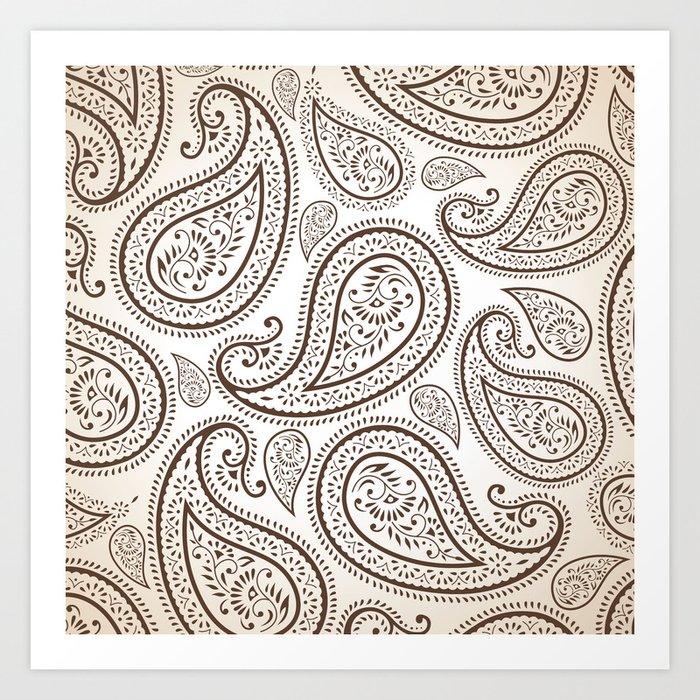 Paisley Threads Art Print